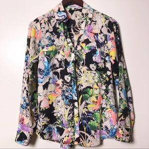 Express Portofino floral blouse size S